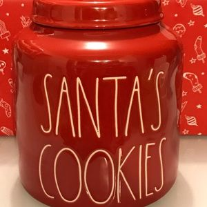 Rae dunn red cookies canister